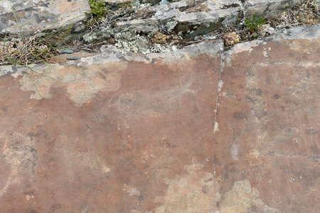 Rock petroglyphs in the tract Kalbak-Tash Stock Photo