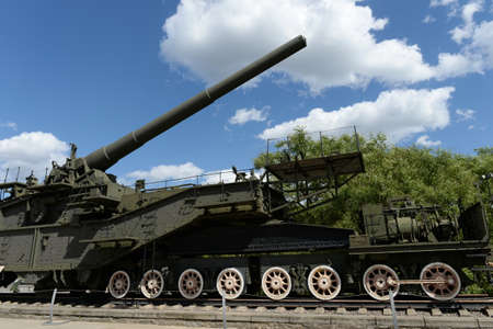 305-mm maritime railway artillery installation TM-3-12 in Moscow