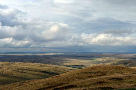 Autumn foothills of Altai. Western siberia