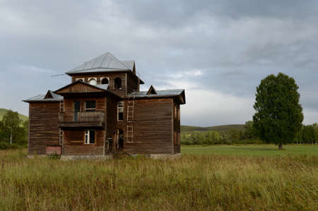Abandoned tourist complex Eldorado at the mouth of the Inya Altai Territory