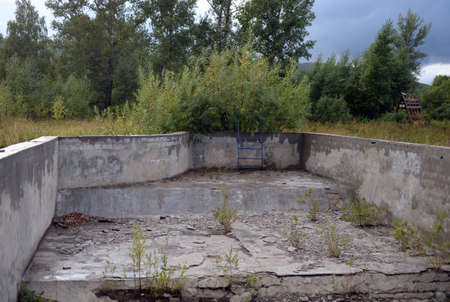 Ini Altai Krai Abandoned swimming pool in the tourist complex Eldorado