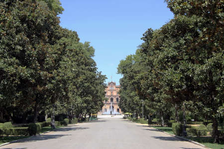 Maria Louise Park in the center of Seville