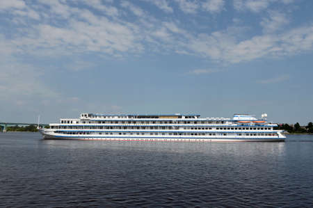 Passenger ship Princess Victoria on the Volga near the city of Yaroslavl
