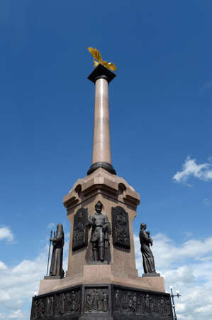 The monument to the 1000 anniversary of Yaroslavl on the Arrow