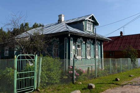 Residential wooden house in the village of Menshikovo Yaroslavl region