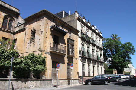 Old building in spanish city of seville 報道画像