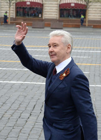 Moscow Mayor Sergei Sobyanin during the celebration of the 74th anniversary of Victory