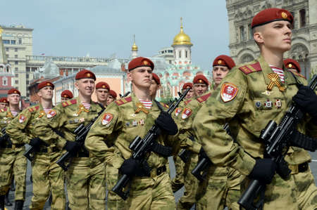 Soldiers. The 74th anniversary of the Victory