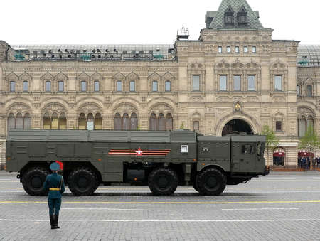 The 9K720 Iskander (NATO reporting name SS-26 Stone) is a mobile short-range ballistic missile system