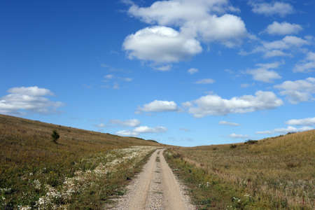 Western Siberia. The road in the foothills of the Altai mountains Stock fotó - 128603508