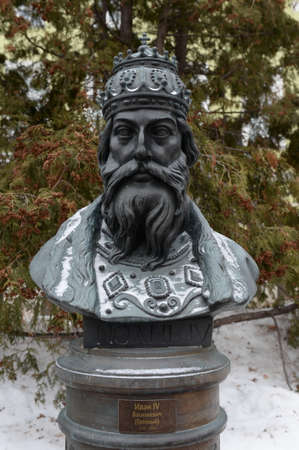 Bust of Tsar Ivan the terrible on the Avenue of Russian rulers in Moscow, sculptor Zurab Tsereteli 新聞圖片