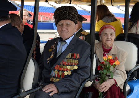 Veterans of the great Patriotic war on red square during the celebration of Victory Day on the red square of Moscow