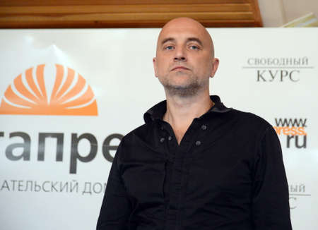 Writer Zakhar Prilepin at a meeting with Siberian readers