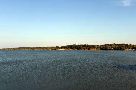 The lake is a Large Island in Western Siberia. Altai territory. Russia