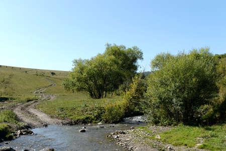 Mountain river Burovlyanka in the Altai Territory
