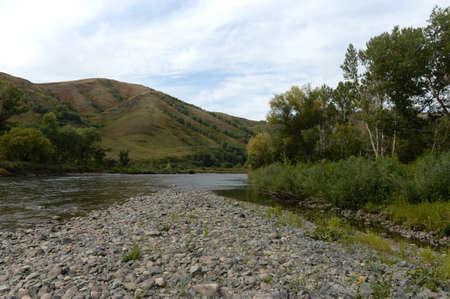 The Inya river in the Altai region. Western Siberia. Russia