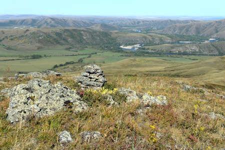 Valley of the mountain river Charysh. Altai region. Western siberia Stok Fotoğraf - 130513875