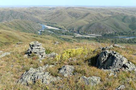 The mountain river Charysh in the Altai Territory. Western Siberia. Russia