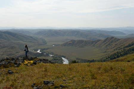 The mountain river Charysh in the Altai Territory. Western Siberia. Russia Stok Fotoğraf