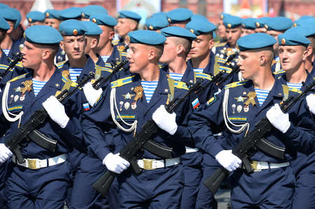 Cadets of the Ryazan airborne command school named after Margelov at the dress rehearsal of the parade on red square in honor of Victory Day Editorial