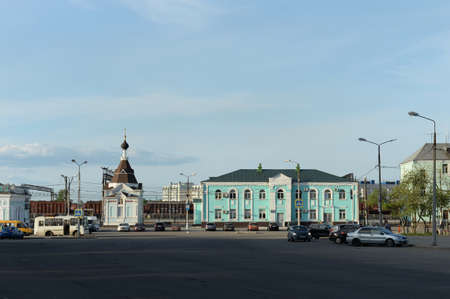 Station square in the city of Cherepovets. Vologda region