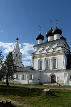Old brick Orthodox Church of the Savior the all-merciful, built in Belozersk in 1716. Vologda region Stock Photo