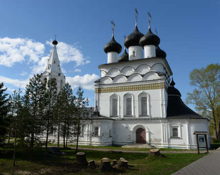 Old brick Orthodox Church of the Savior the all-merciful, built in Belozersk in 1716. Vologda region