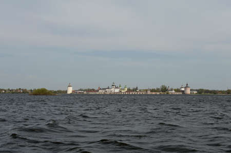View of the Kirillo-Belozersky monastery from Siversky lake
