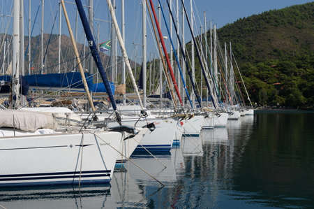 Yachts at the Marina of the yacht club in the Turkish city of Marmaris