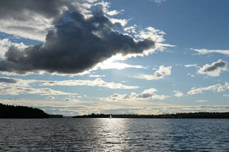 Klyazma reservoir of the Moscow canal Imagens