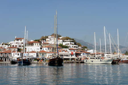 View of the city of Marmaris from the sea. Turkey
