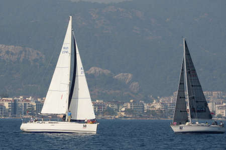 Yachts in the bay near the Turkish city of Marmaris