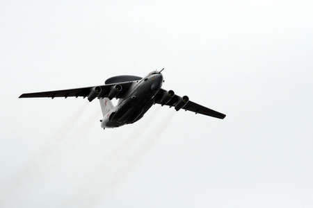 Victory Day celebrations in Moscow. A-50U long-range radar reconnaissance aircraft flies over Red Square. Editorial