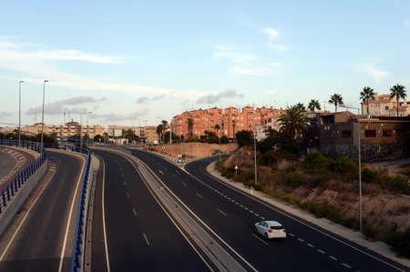 Highway in Orihuela Costa. Spain