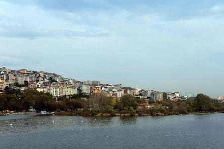 An island in the Golden Horn Bay near the urban area of Eupsultan Istanbul, Turkey