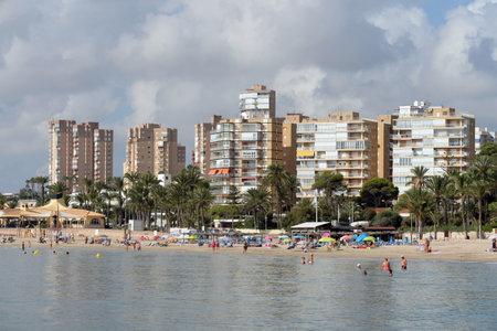 Playa de Campoamor beach in Orihuela Costa. Spain