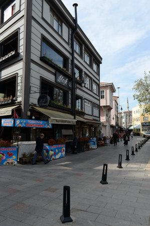 Eyup Iskele Street in the Eyupsultan district of Istanbul. Turkey