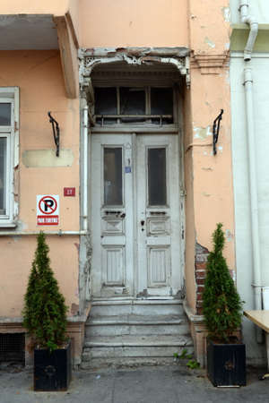 Entrance to an old house on Eyup Iskele street in the Eyupsultan district of Istanbul. Turkey