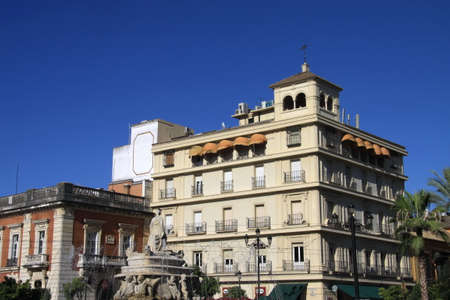 Residential building in the city of Seville 新聞圖片