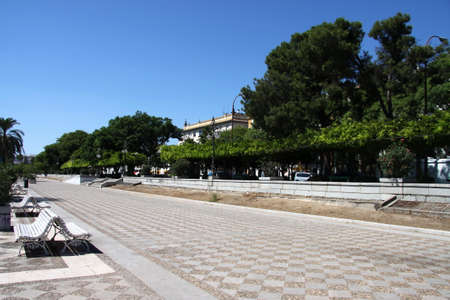 Pedestrian road in sunny seville