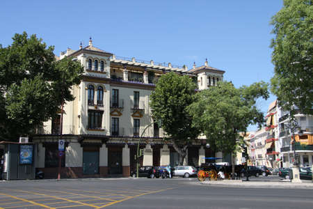 Old building on Adriano street in Seville