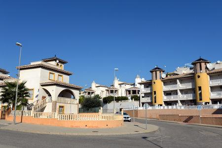 Residential residences on the Costa Blanca in Orihuela. Spain