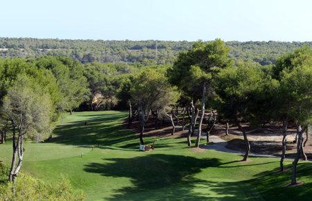 Golf courses in Orihuela. Spain