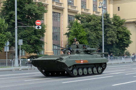 Upgraded infantry fighting vehicle BMP-2M on Mokhovaya street during the parade dedicated to the 75th anniversary of Victory in the great Patriotic war Editöryel