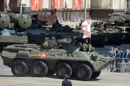 BTR-82A armored personnel carrier on Okhotny Ryad during the parade dedicated to the 75th anniversary of Victory in the great Patriotic war Editorial