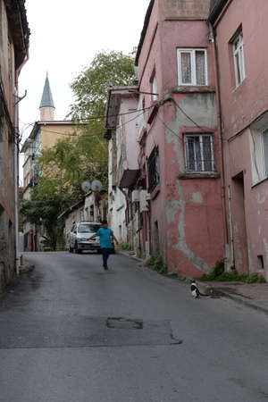 In the old streets of Ayvansaray in Istanbul. Turkey