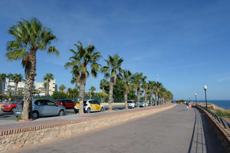 Promenade on the Costa Blanca in Orihuela. Spain