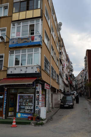 On the old streets of the Fatih city district in Istanbul. Turkey