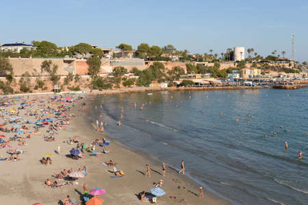 Playa de Cabo Roig beach in Orihuela Costa. Spain Editorial