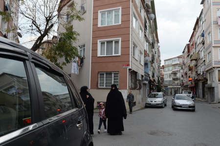 On the street of the Fatih district in Istanbul. Turkey